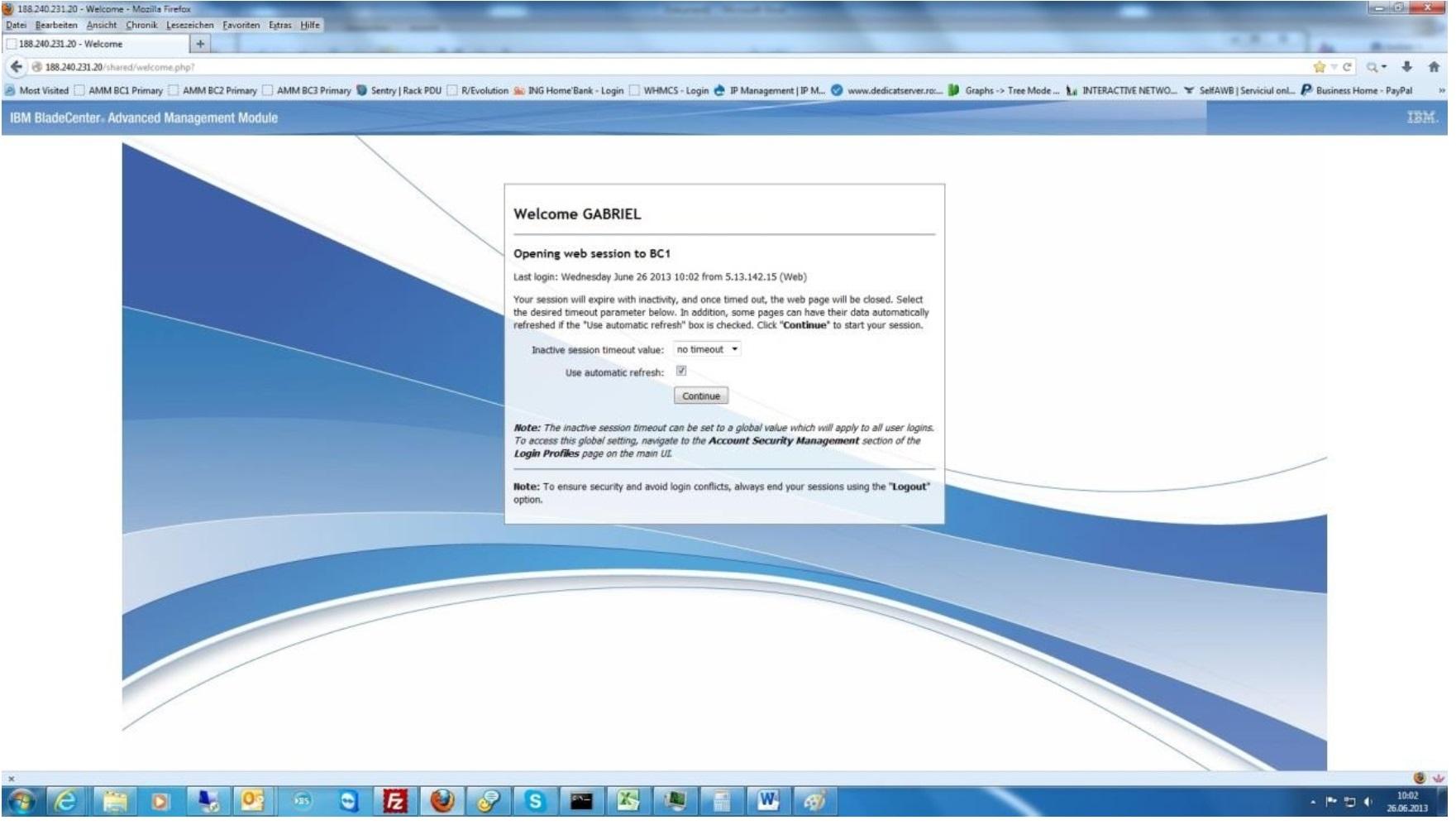 acces dedicat server pasul 2